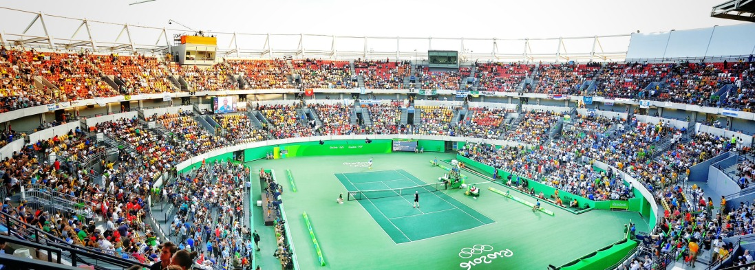 Olympic Tennis, Centre Court, #rio2016 Credit: Andy Miah