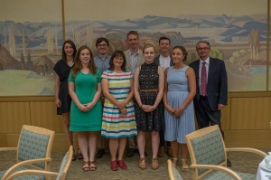 8 of the AHRC fellows with Steve Hindle, Director of Research at the Huntington . Courtesy of Martha Benedict