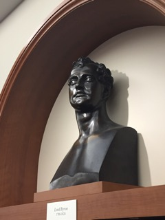 A bust of George Gordon, Lord Byron, from the Ahrmanson Reading Room in the Munger Research Centre - Photo Credit Thomas Tyrrell