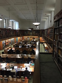 The Rothenberg Reading Room in the Huntington Library. Photo Credit - Thomas Tyrrell
